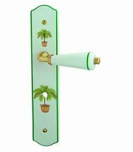 1 2 poignee de porte palmier a decondamnation porcelaine With poignee de porte porcelaine