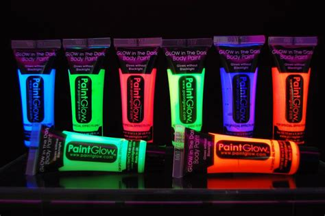 Paint Glow 10ml/.34oz Glow In The Dark Face And Body Paint