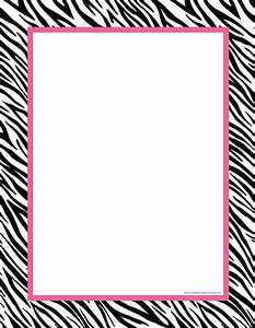 Print Paper With Zebra Print Boarder - ClipArt Best