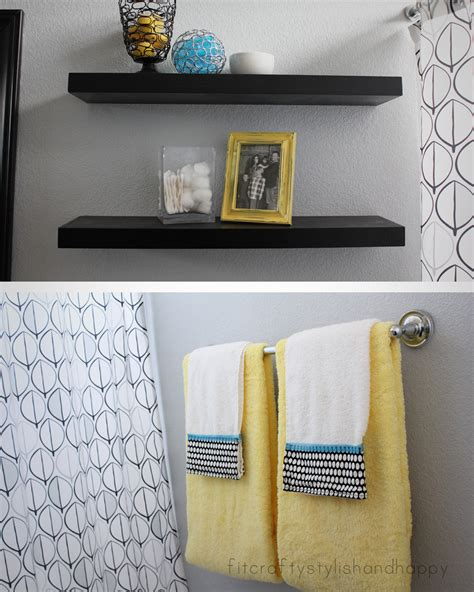 yellow and gray bathroom ideas fit crafty stylish and guest bathroom makeover