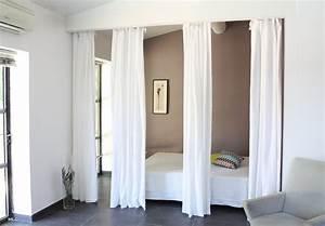 Rideau Séparateur De Pièce : agr able rideau de separation de piece 2 rideaux en lin comme s233paration de pi232ce digpres ~ Teatrodelosmanantiales.com Idées de Décoration