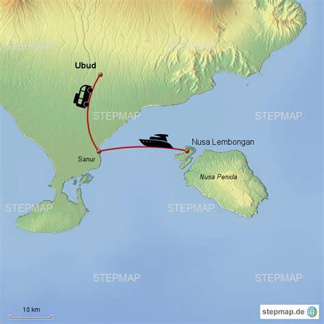 stepmap ubud landkarte fuer indonesien