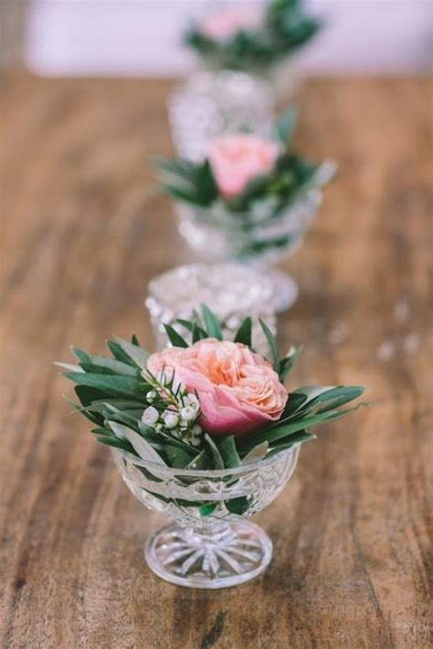 vintage mediterranean wedding small flower centerpieces