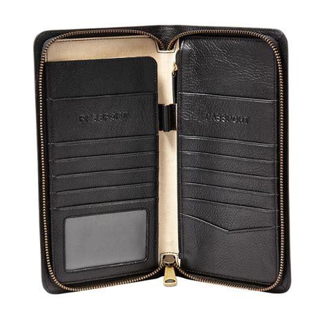 multi zip passport case fossil