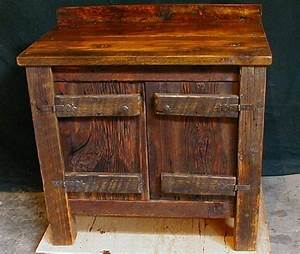 Custom made reclaimed barnwood bathroom vanity for Barnwood pieces