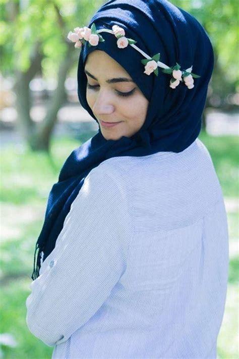 jolis styles de hijab modernes pour filles voilees
