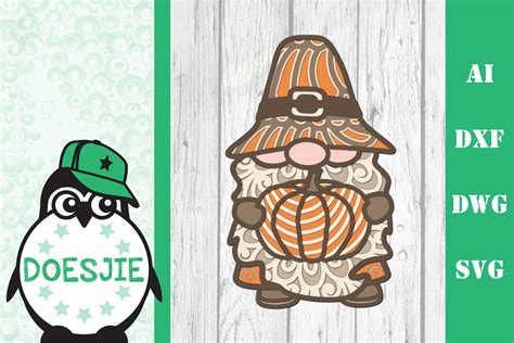 We have a huge range of svgs products available. Gnome Thanksgiving SVG 3d layered mandala pumpkin ...