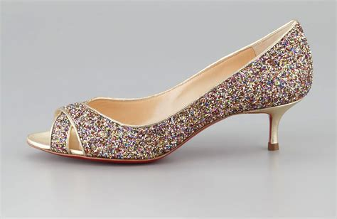 Hell Shoes : Low Heeled Wedding Shoes For Tall Brides Sparkly Christian