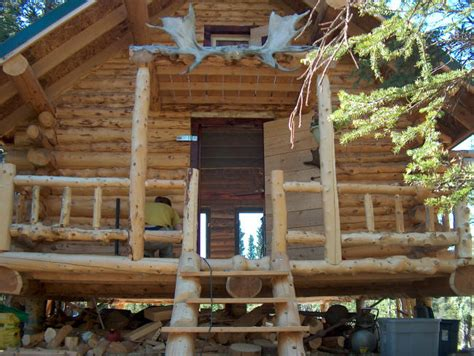 log cabin front porch log cabin   mountains porch cabin treesranchcom