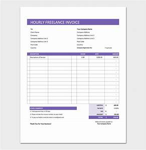 freelance invoice template 5 for word excel pdf format With freelance hourly invoice template