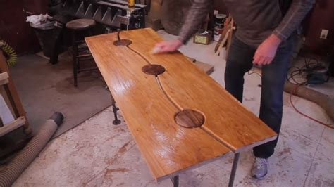 maple  walnut table entry table woodworking projects