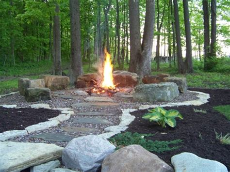 bonfire pits  fire rings traditional designs