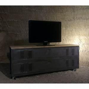 Meuble Tv Industriel : meuble tv industriel ancien vestiaire usine d coration industrielle ~ Teatrodelosmanantiales.com Idées de Décoration