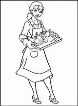Tiana Coloring Princess Pages Waitress Printable Disney Waiter Sheet Drawing Cool2bkids Colouring Doll Profession Coloringpagesfortoddlers Frog Sheets Children African American sketch template