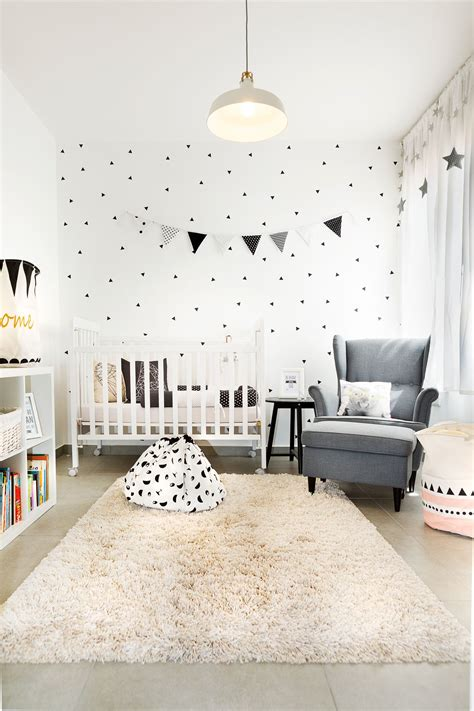 Kinderzimmer Gestalten Ikea by Black And White Geometric Design Baby Room Ikea Style By