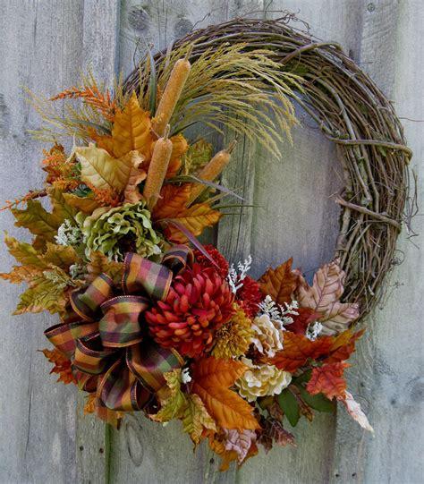 autumn wreath autumn wreath fall floral wreaths designer decor woodland