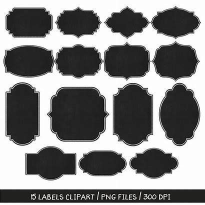 Chalkboard Chalk Labels Clipart Clip Frames Label