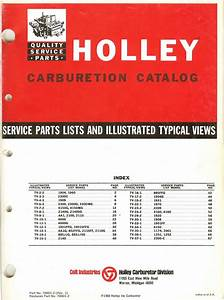 Holley Carburetor Exploded Diagrams