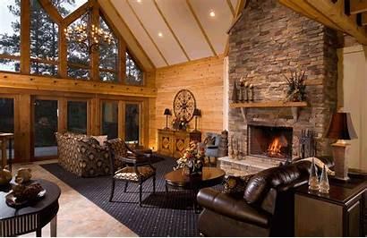 Log Homes Living Cozy Att Ct Luxurious