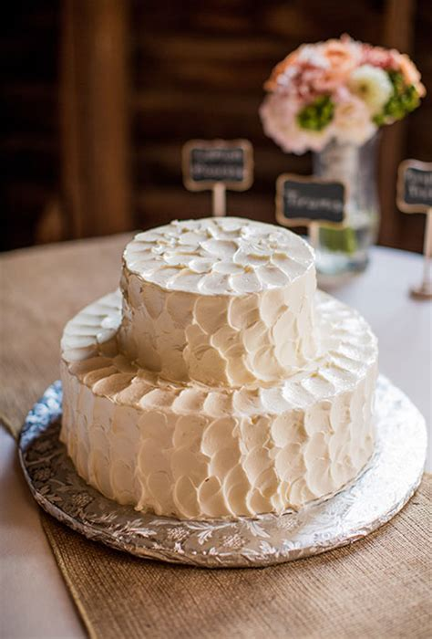 Rustic Two Tiered Wedding Cake Wedding Cakes Photos