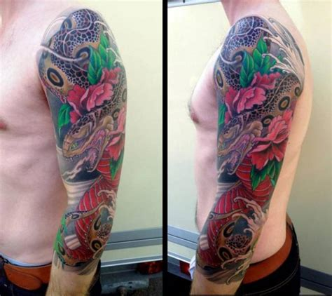 Arm Snake Japanese Tattoo by Dirty Roses
