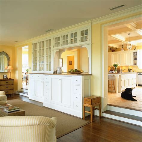 kitchen pass  living room traditional  glass