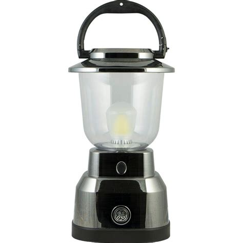 battery operated lights home depot ge enbrighten battery operated led nickel plated lantern