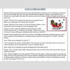 """Christmas Reading Comprehension Text  Story """"santa's Time Machine"""" By Mariapht Teaching"""