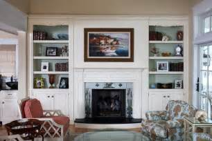 decorating ideas for bookcases by fireplace living room