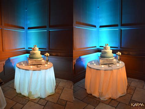 lights under cake table karma event lighting for weddings and special events