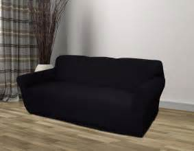 sofa covers black jersey sofa stretch slipcover cover chair loveseat sofa recliner ebay