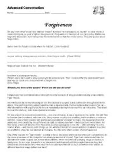 Forgiveness Worksheet Worksheets For All  Download And Share Worksheets  Free On Bonlacfoodscom