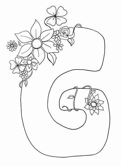 Letter Coloring Pages Printable Alphabet Colouring Flower