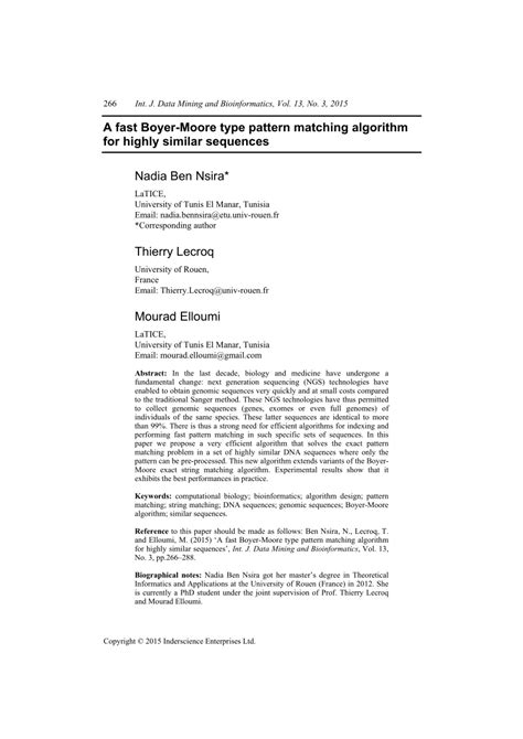 (PDF) A fast Boyer-Moore type pattern matching algorithm
