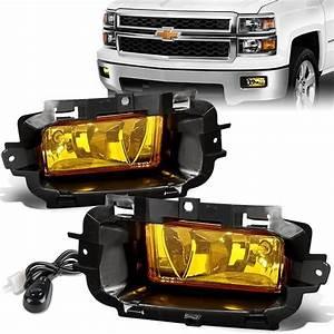14-15 Chevy Silverado 1500 Amber Lens Fog Lights
