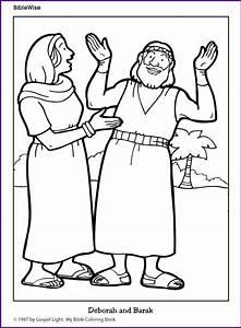 Coloring (Deborah and Barak) - Kids Korner - BibleWise