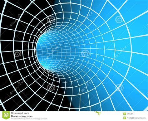 blue abstract  tunnel   grid stock image image
