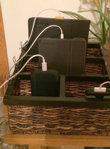 charging station organizer ideas  phones