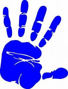 Blue Hand Print Clip Art at Clker com - vector clip art