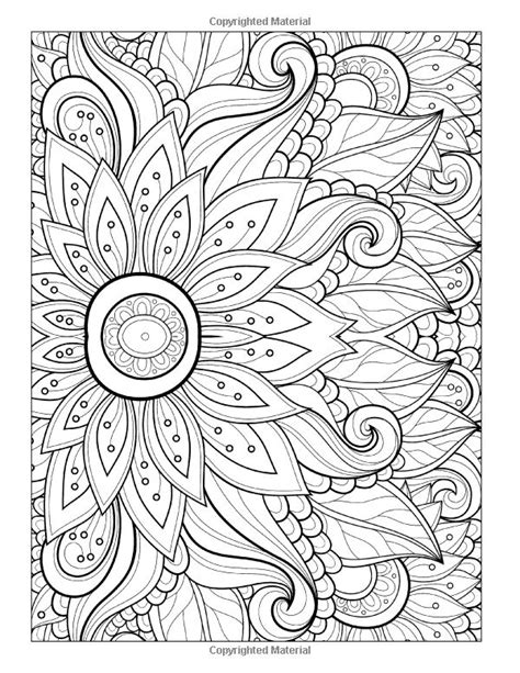 coloring pages floral coloring book page  coloring