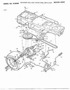 Motion Drive Diagram  U0026 Parts List For Model 836568 Murray