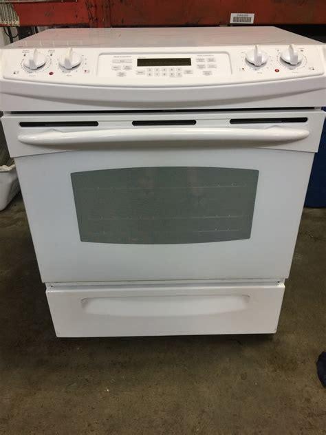 ge profile ge profile glass top white   range discount city appliance