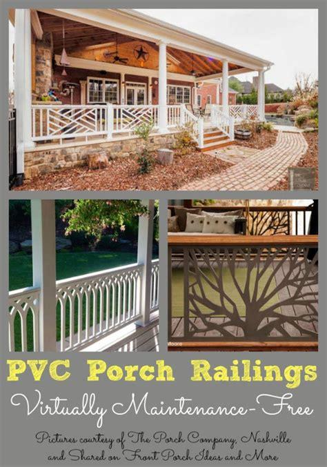 vinyl porch railing ideas  porches  decks