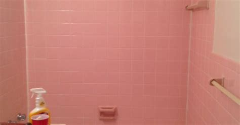 remove  adhesive   pink wall tiles