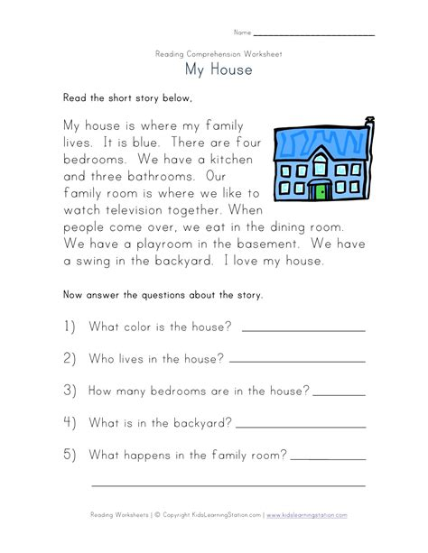 reading comprehension worksheets dyslexia worksheet template