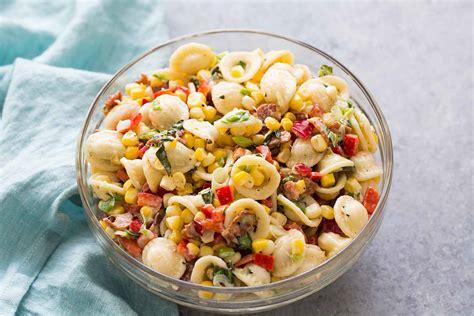pasta salad  corn bacon  buttermilk ranch