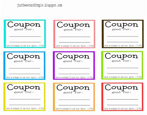 Coupon Template The Gallery For Gt Printable Blank Coupons