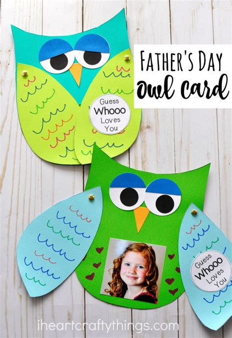 guess whooo you s day craft 588 | fathers day kids craft owl card 3
