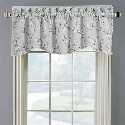 Silver Gray Valances by Allendale Lined Embroidered Window Valance Bed Bath And