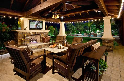 Covered Patios With Fireplaces